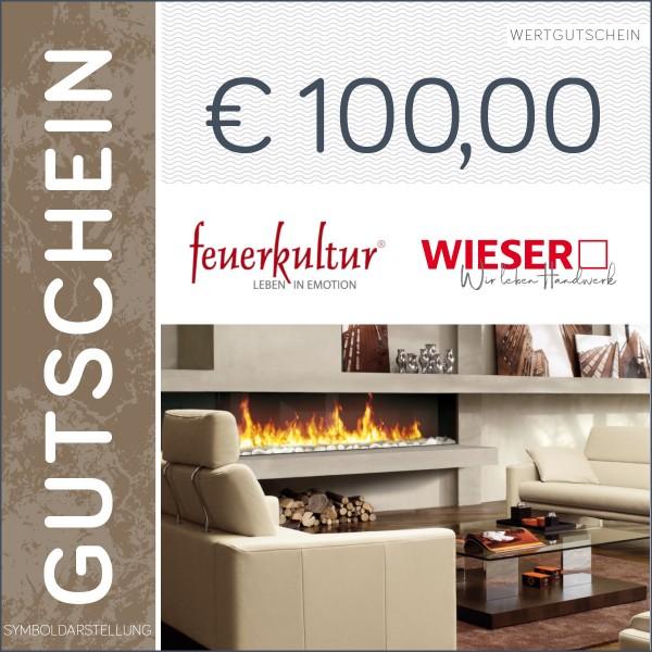 100 Euro Gutschein - Feuerkultur GmbH & Wieser Handwerk GmbH